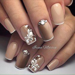 Monogram nails photo