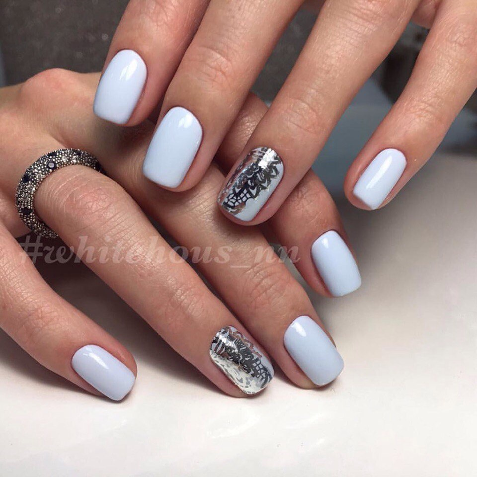 Blue and silver nails the best images bestartnails blue and silver nails prinsesfo Image collections