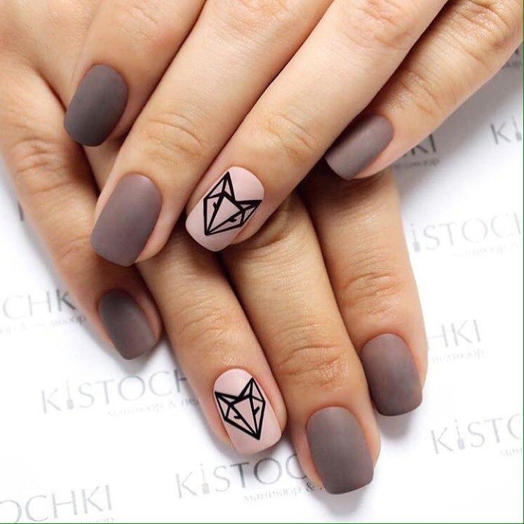 Fall matte nails - The Best Images | BestArtNails.com