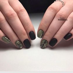 Fall matte nails photo