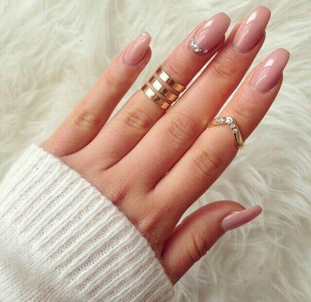 Beige nails by gel polish