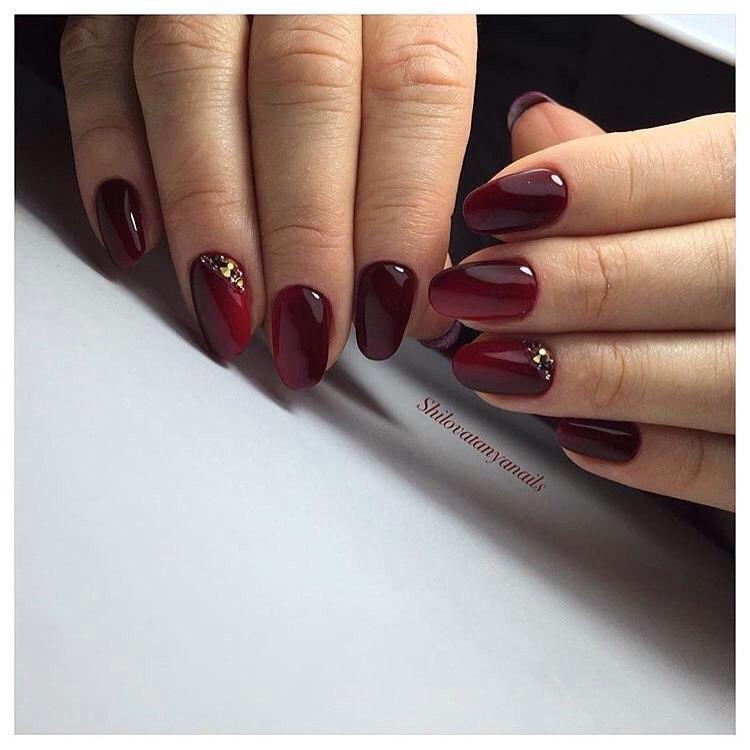 Dark Cherry Nails The Best Images Bestartnails Com