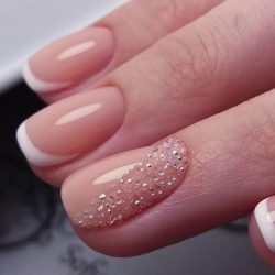 White graceful french nails photo