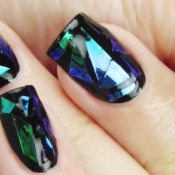 Evening nails by gel polish photo