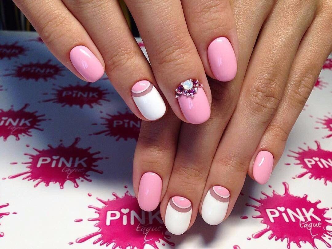 Nails with gems - The Best Images | BestArtNails.com