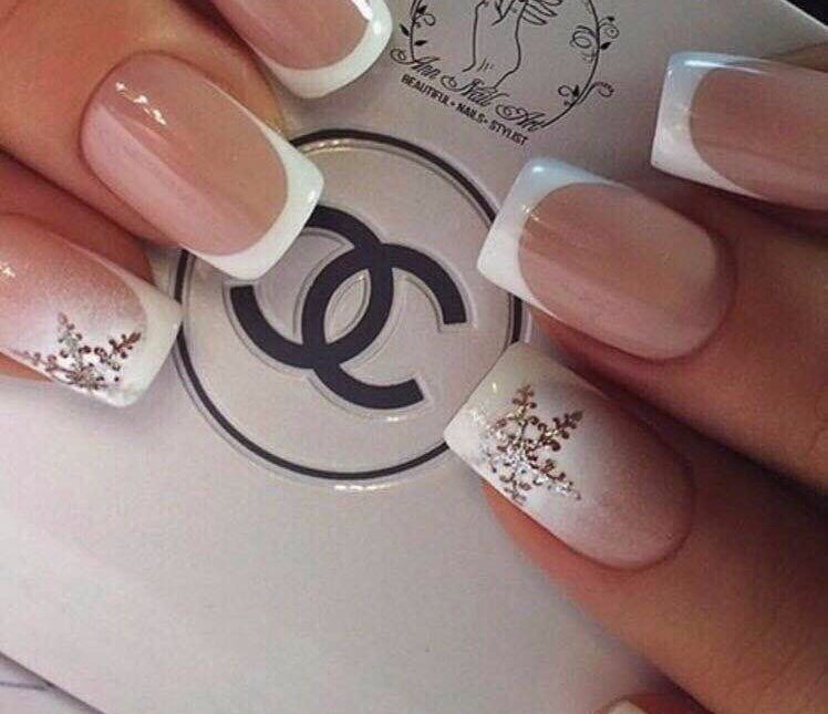 Light french nails