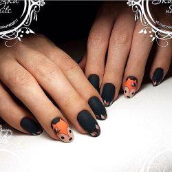 Winter nail art photo