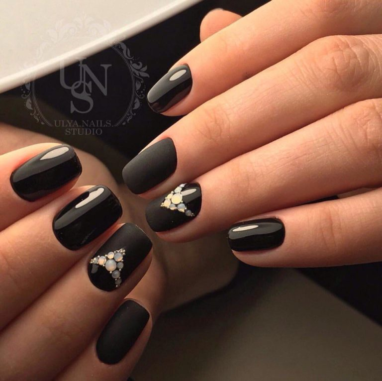 Ideas of black matte nails