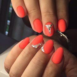 Nails with rhinestones photo