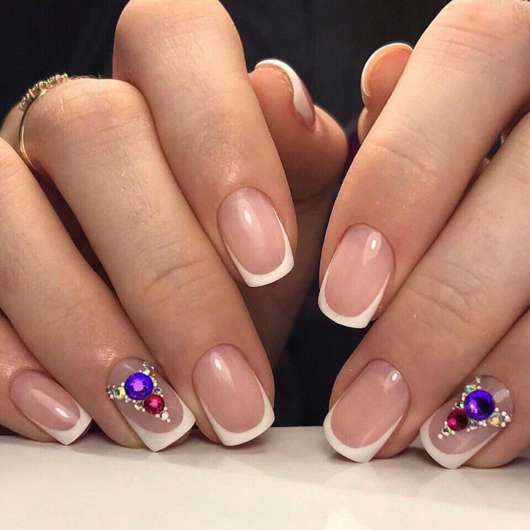 Square french nails