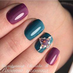 Evening short nails photo