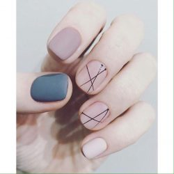Light brown nails photo