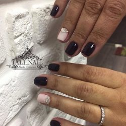 Half-moon nails photo