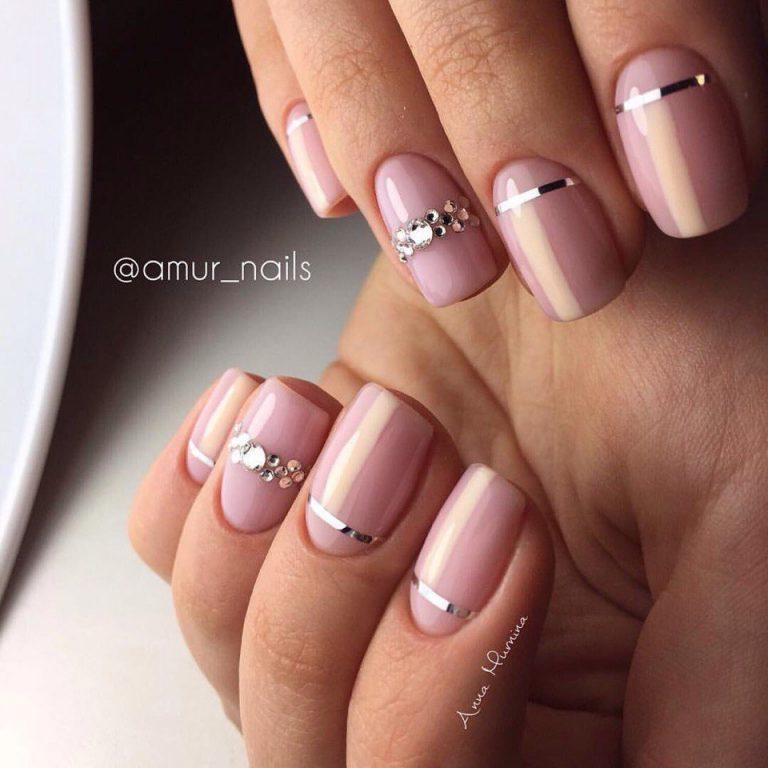 Nails with rhinestones