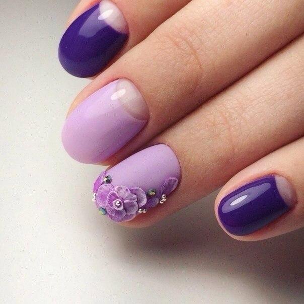 Fashion liliac nails