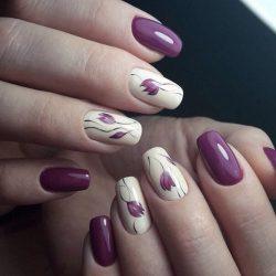 flower nail art photo