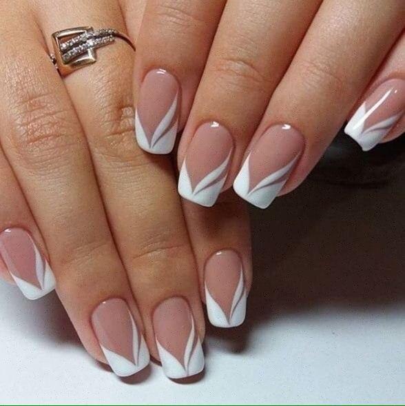 Delicate wedding nails
