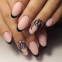 Oval French manicure photo