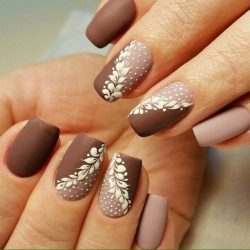 Manicure in autumn style photo