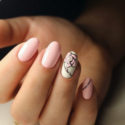 Rose nail art photo