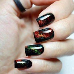 Black nail art photo
