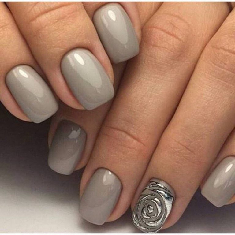 Grey nails ideas