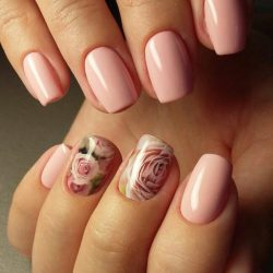 Nails with stickers photo