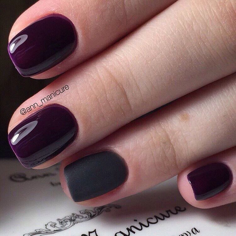 Dark shades nails
