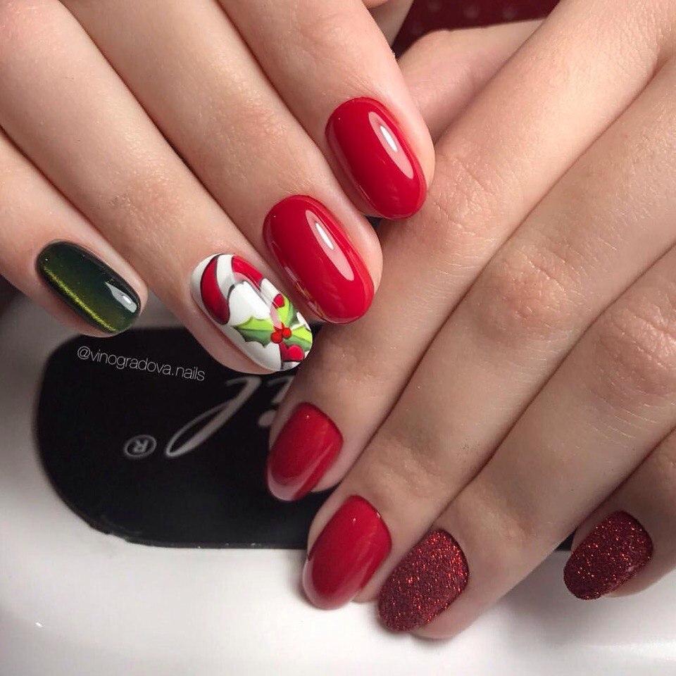 Christmas Finger Nail Art: Best Nail Art Designs Gallery