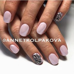 Pale pink nails photo