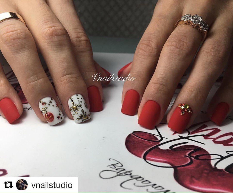 Red and white shellac