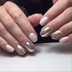Milky nails photo