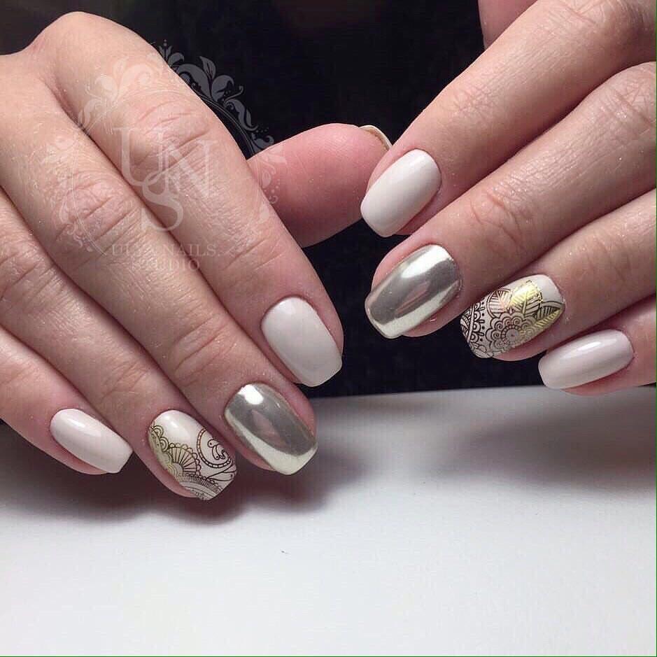 Milky nails - The Best Images | BestArtNails.com