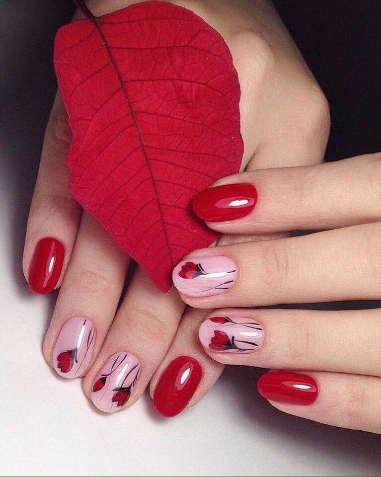 Ногти самые красивые красные