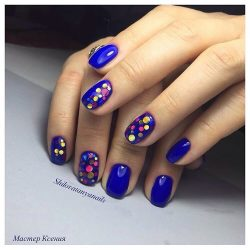 Beautiful blue nails photo