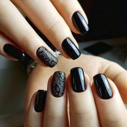 Black nails ideas , The Best Images