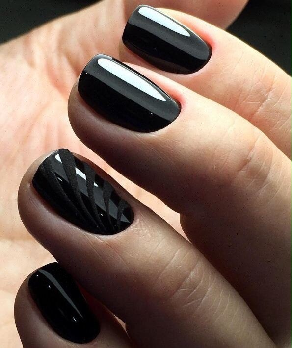 Short Black Nails The Best Images Bestartnails