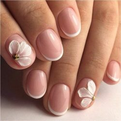 Short nails with a picture photo