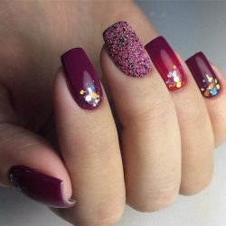 New year nails ideas 2017 photo