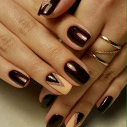 Ideas of evening nails photo