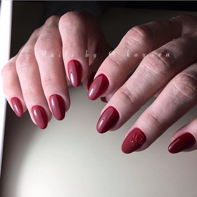 Beautiful maroon nails