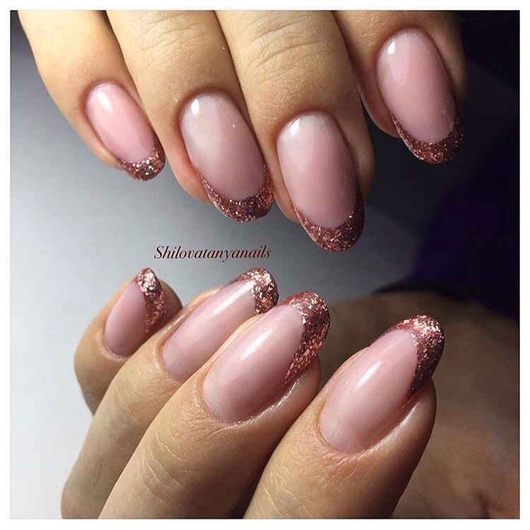 Oval French manicure - The Best Images | BestArtNails.com