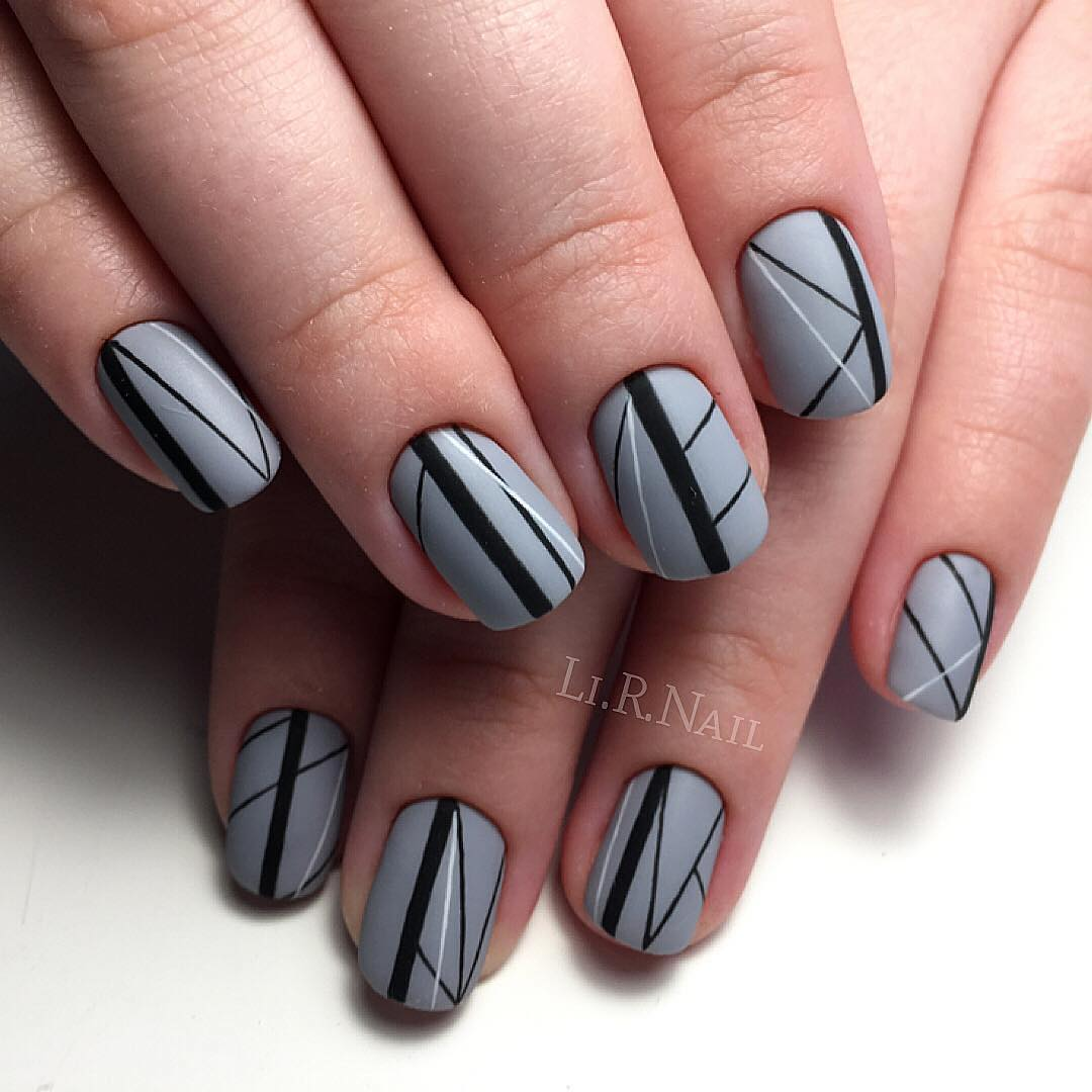 Grey nails - Nail Art #3306 - Best Nail Art Designs Gallery BestArtNails.com