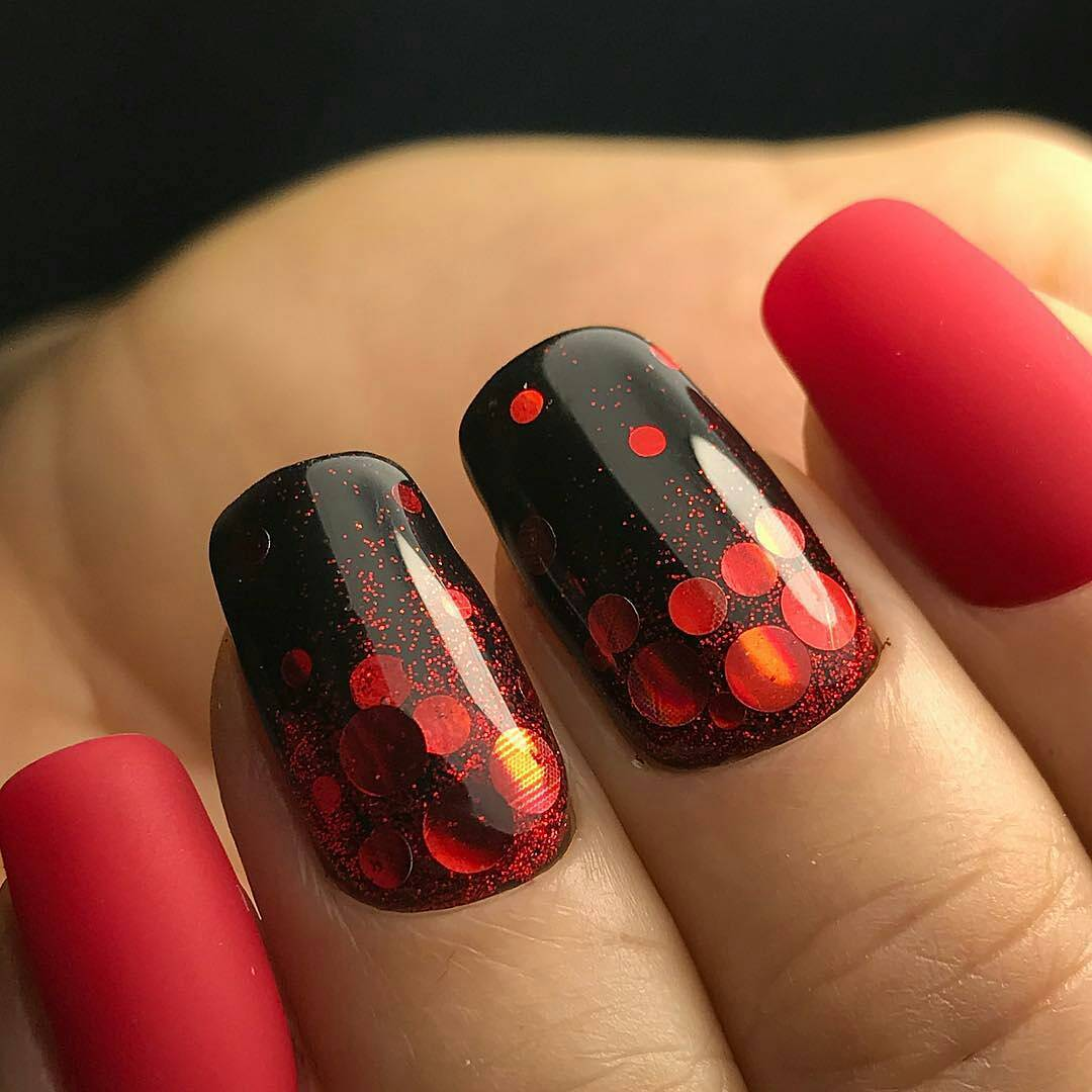 Red and black nails - Big Gallery of Designs | BestArtNails.com
