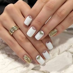 Golden nails photo