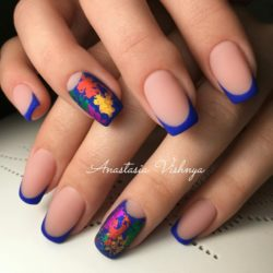 Blue nail art photo