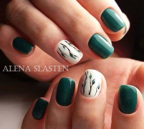 Green Nail Designs The Best Images Bestartnails