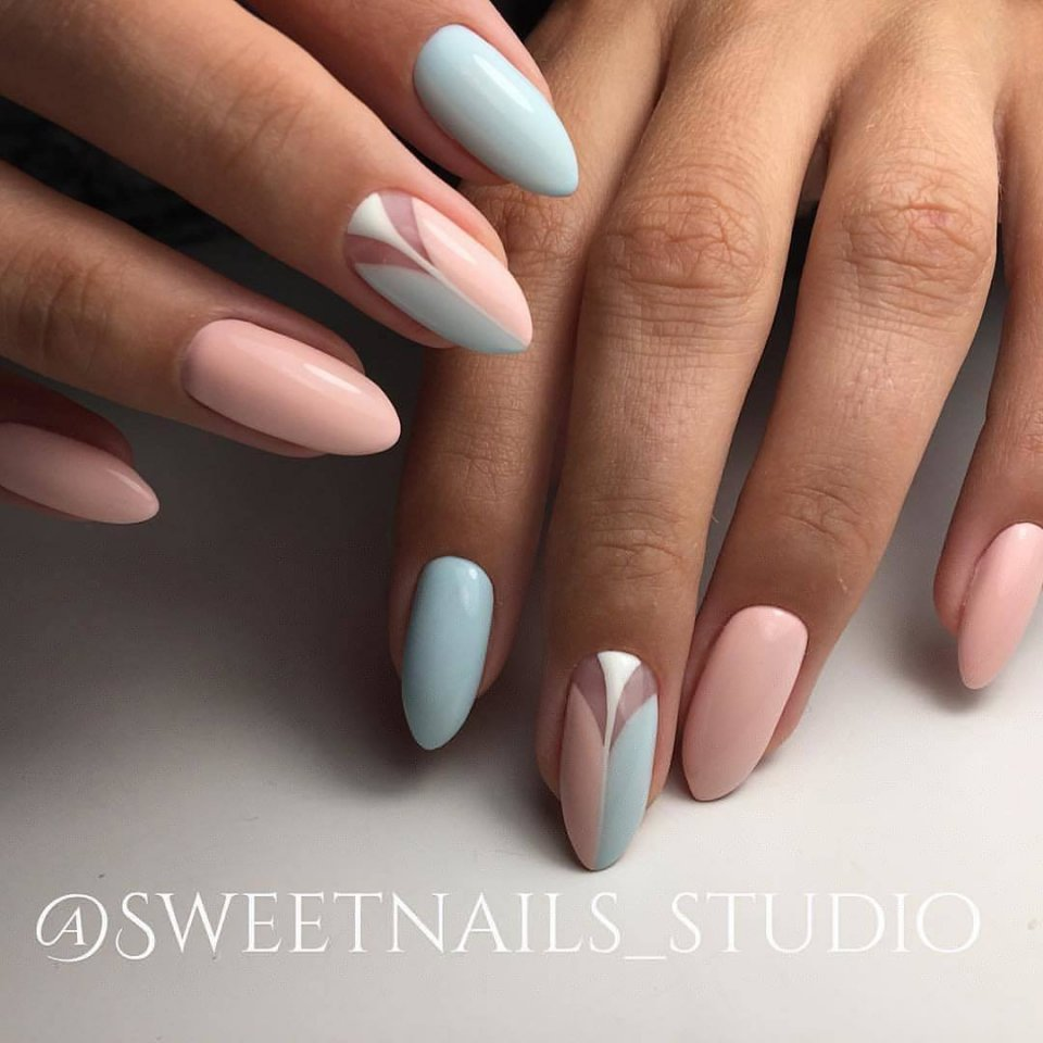 Cute pink and blue nails - The Best Images | BestArtNails.com