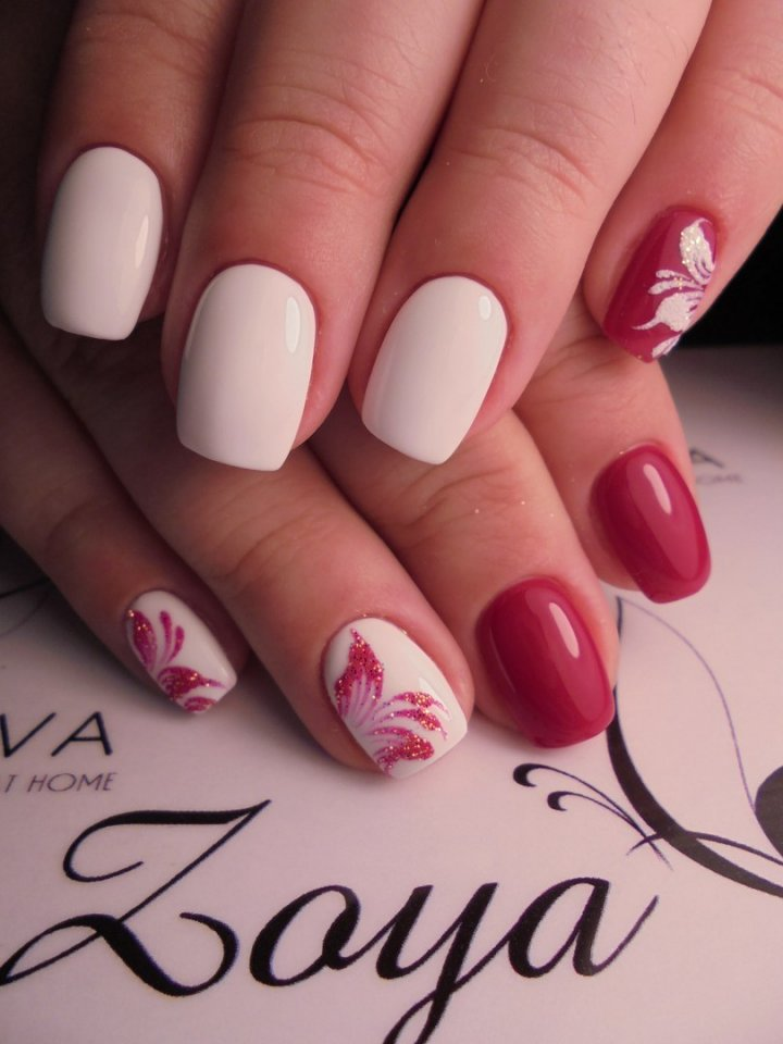 Red and white nails ideas - The Best Images | BestArtNails.com