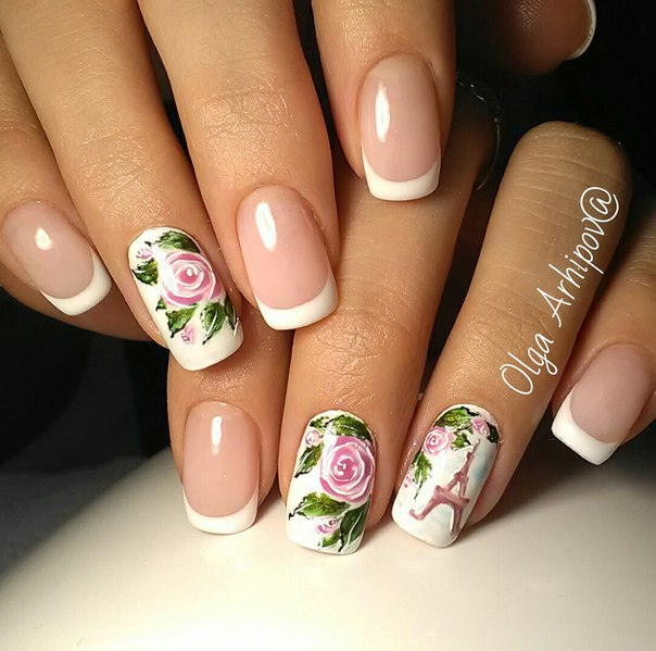 Spring French Manicure